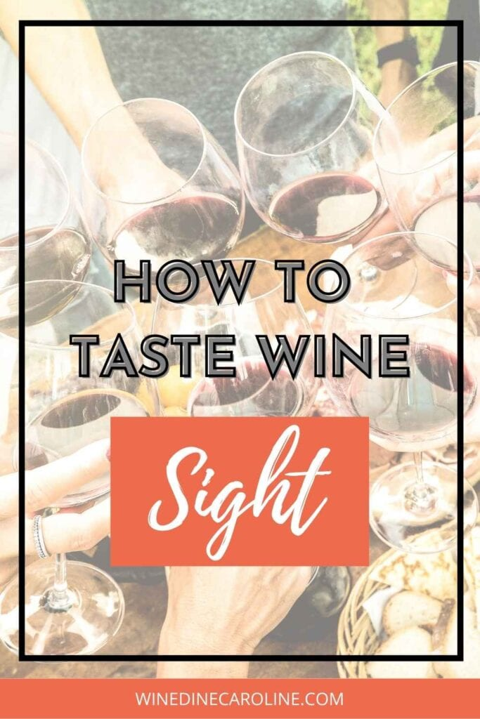How to taste wine - sight